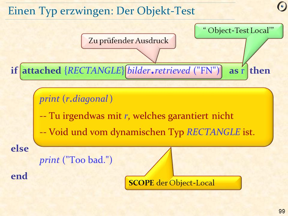 99 Einen Typ erzwingen: Der Objekt-Test Object-Test Local' if attached {RECTANGLE} bilder.