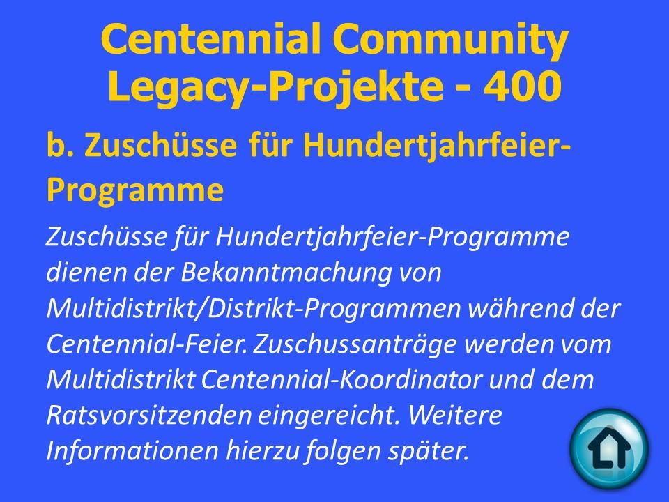 Centennial Community Legacy-Projekte - 400 b.