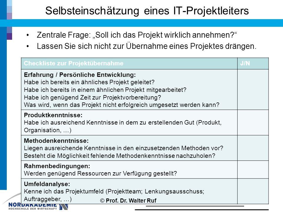 """Selbsteinschätzung eines IT-Projektleiters Zentrale Frage: """"Soll ich das Projekt wirklich annehmen?"""" Lassen Sie sich nicht zur Übernahme eines Projekt"""