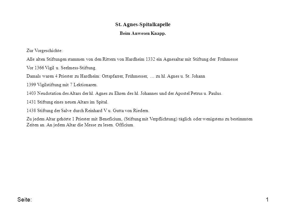 Seite:1 St. Agnes-Spitalkapelle Beim Anwesen Knapp.