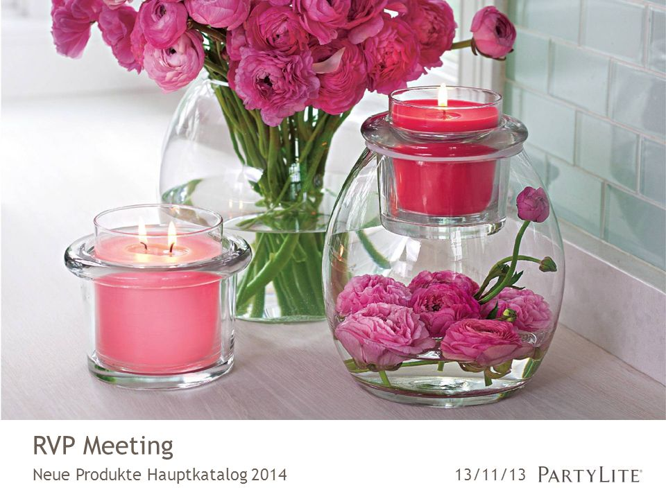Neue Produkte Hauptkatalog 2014 RVP Meeting 13/11/13