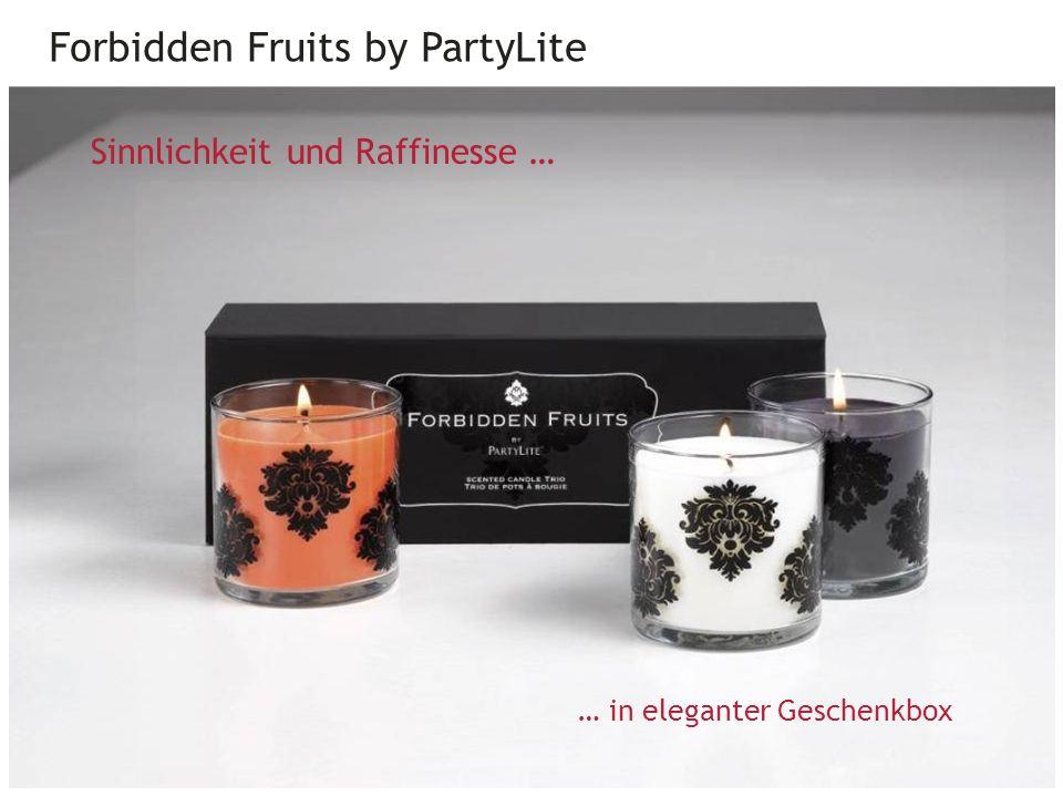 Forbidden Fruits by PartyLite 28 … in eleganter Geschenkbox Sinnlichkeit und Raffinesse …