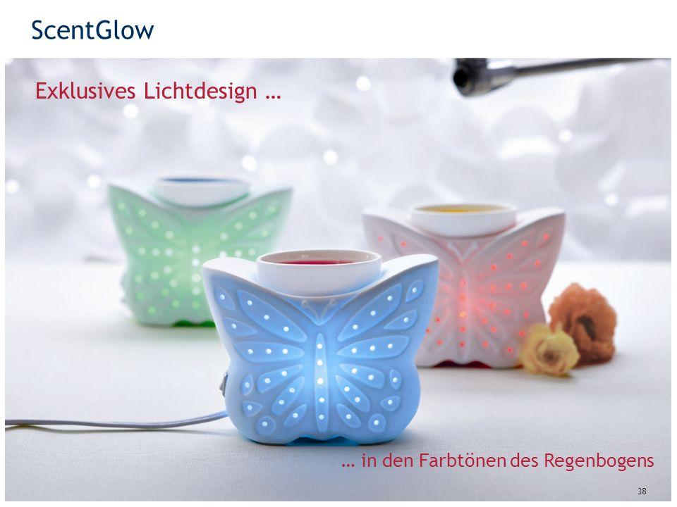 ScentGlow 38 Exklusives Lichtdesign … … in den Farbtönen des Regenbogens