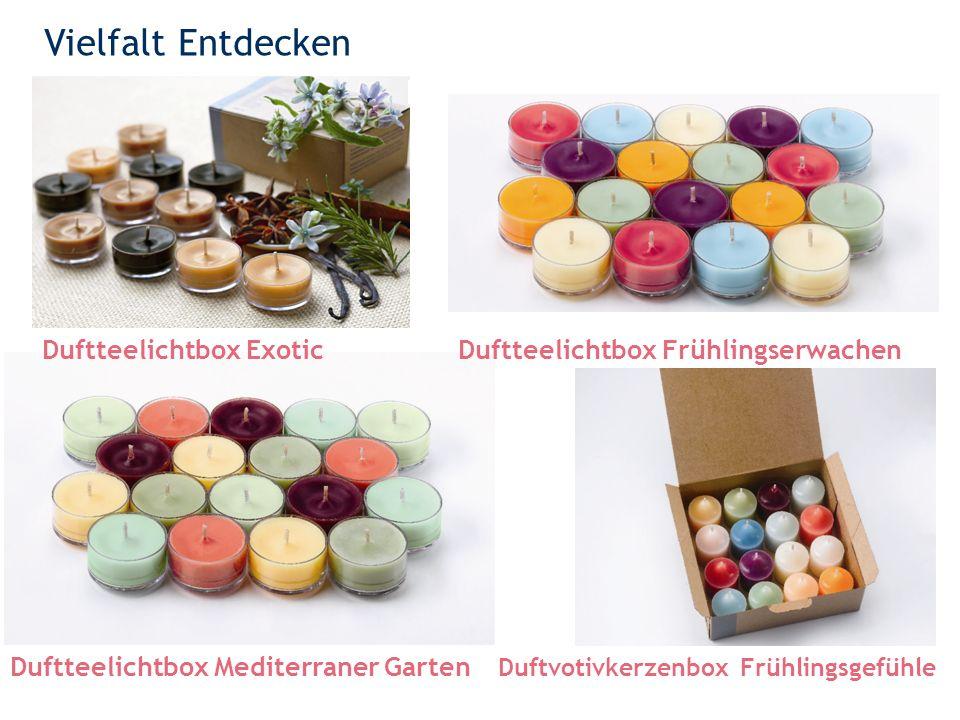 Vielfalt Entdecken 39 Duftteelichtbox Exotic Duftteelichtbox Mediterraner Garten Duftteelichtbox Frühlingserwachen Duftvotivkerzenbox Frühlingsgefühle