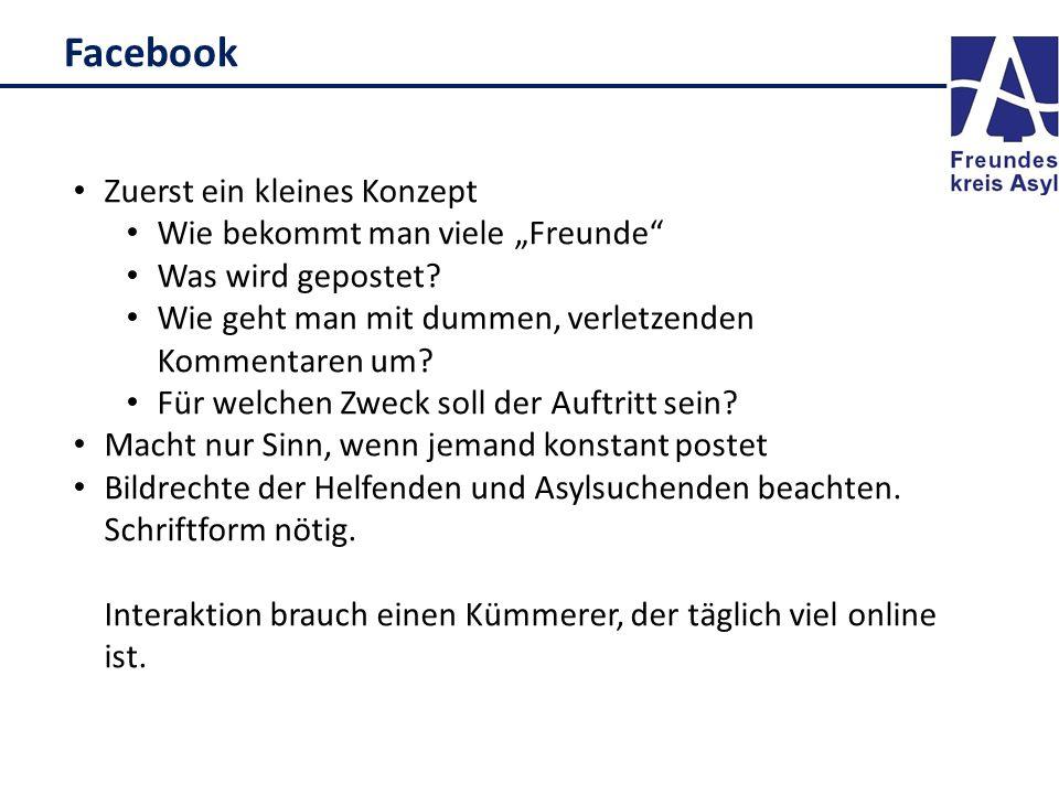 """Facebook Zuerst ein kleines Konzept Wie bekommt man viele """"Freunde Was wird gepostet."""