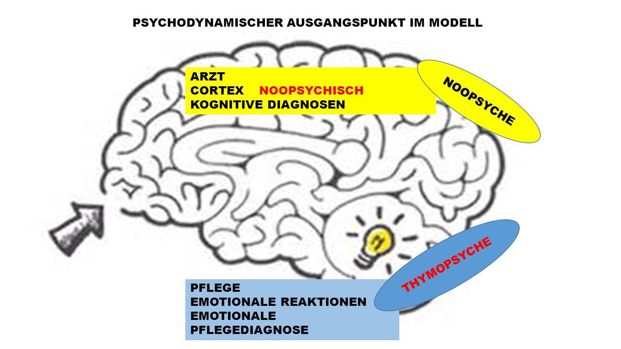 ARZT CORTEX NOOPSYCHISCH KOGNITIVE DIAGNOSEN PFLEGE EMOTIONALE REAKTIONEN EMOTIONALE PFLEGEDIAGNOSE NOOPSYCHE THYMOPSYCHE PSYCHODYNAMISCHER AUSGANGSPU