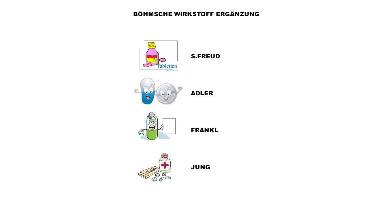 BÖHMSCHE WIRKSTOFF ERGÄNZUNG ADLER S.FREUD FRANKL JUNG
