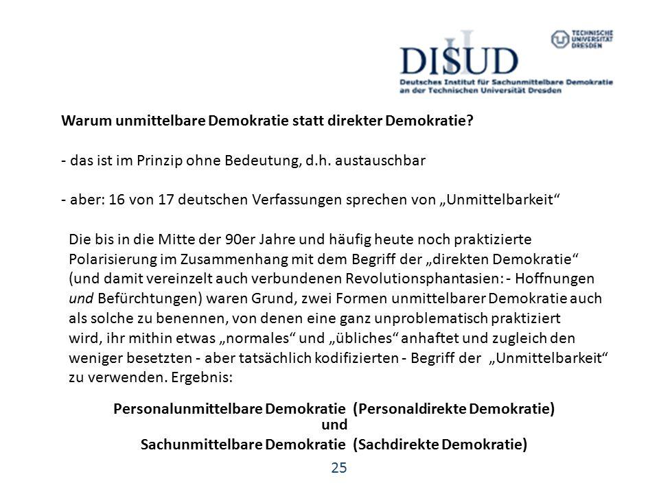 Warum unmittelbare Demokratie statt direkter Demokratie.