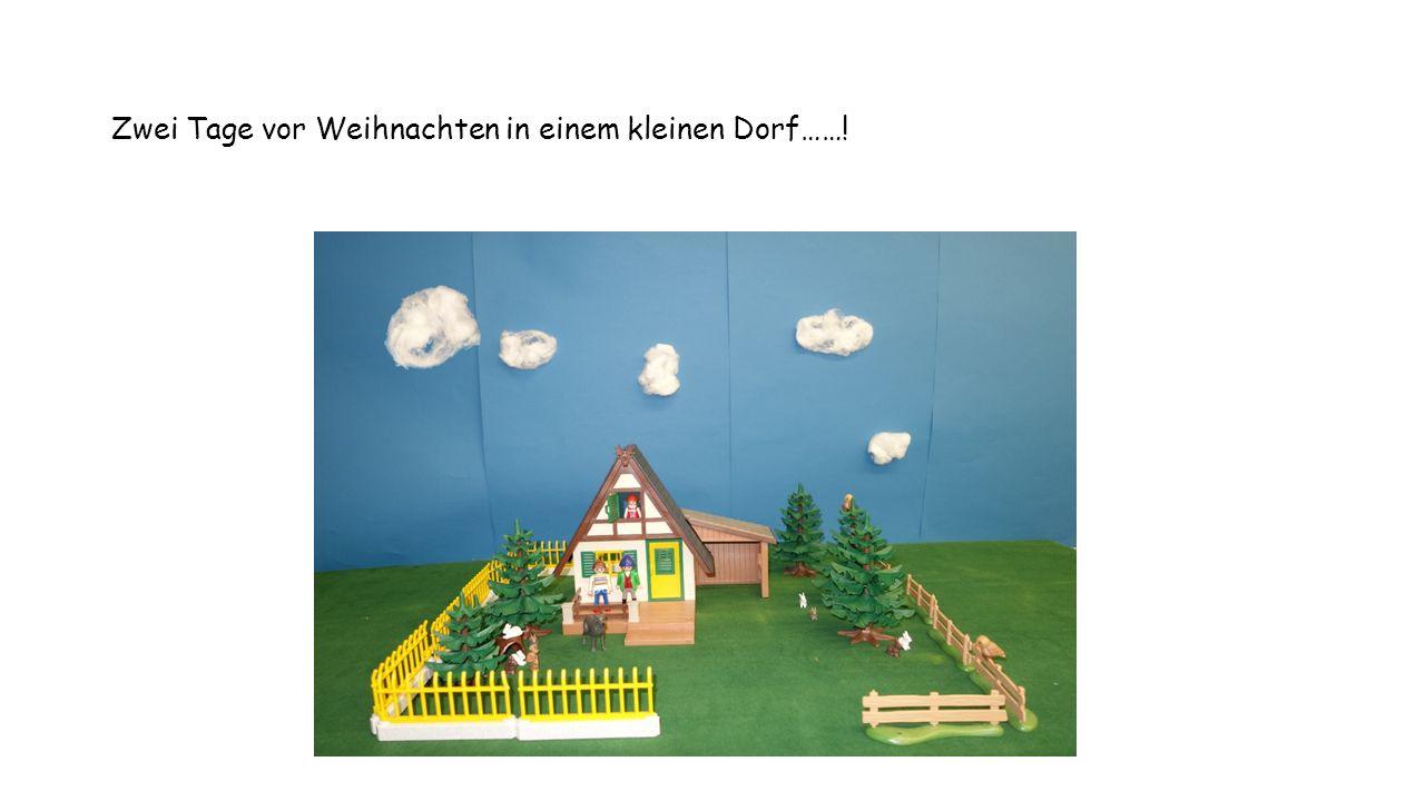 Hier in diesem kleinen Dorf wohnt Herr und Frau Müller mit ihrer Tochter Sarah und ihren Haustieren.