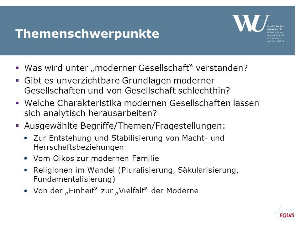 Moderne Gesellschaften II: Funktionen, Leistungen, Probleme Dr. Andreas Weber