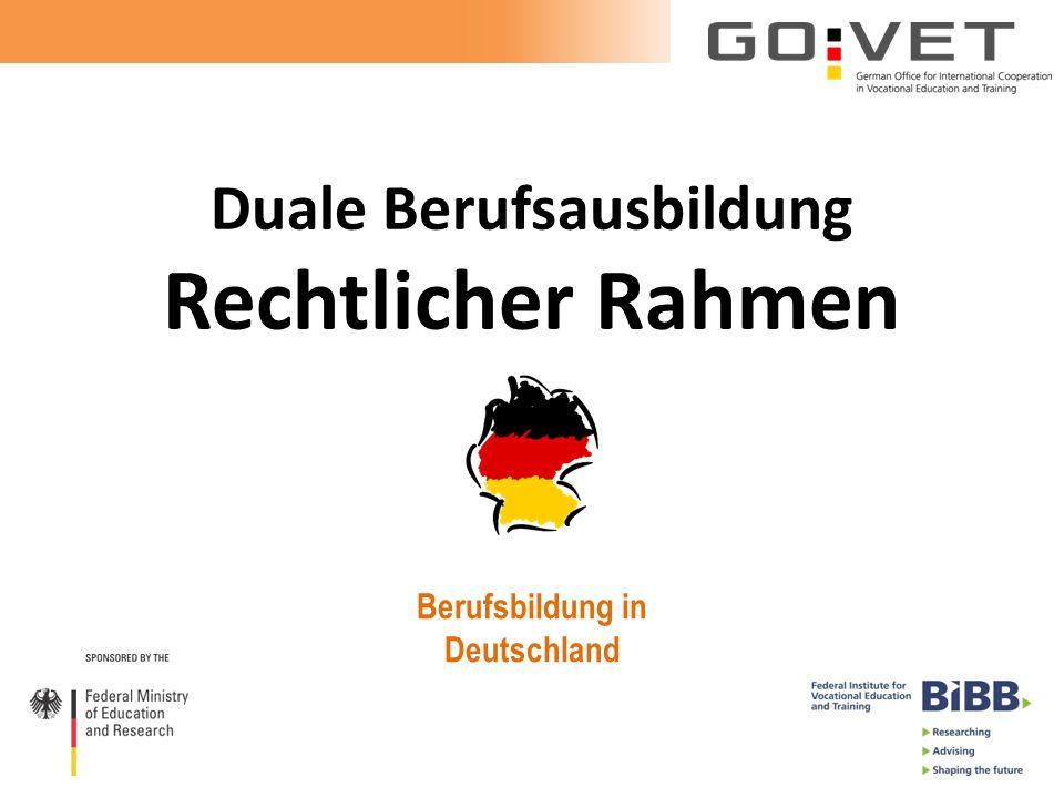 Duale Berufsausbildung Rechtlicher Rahmen Berufsbildung in Deutschland