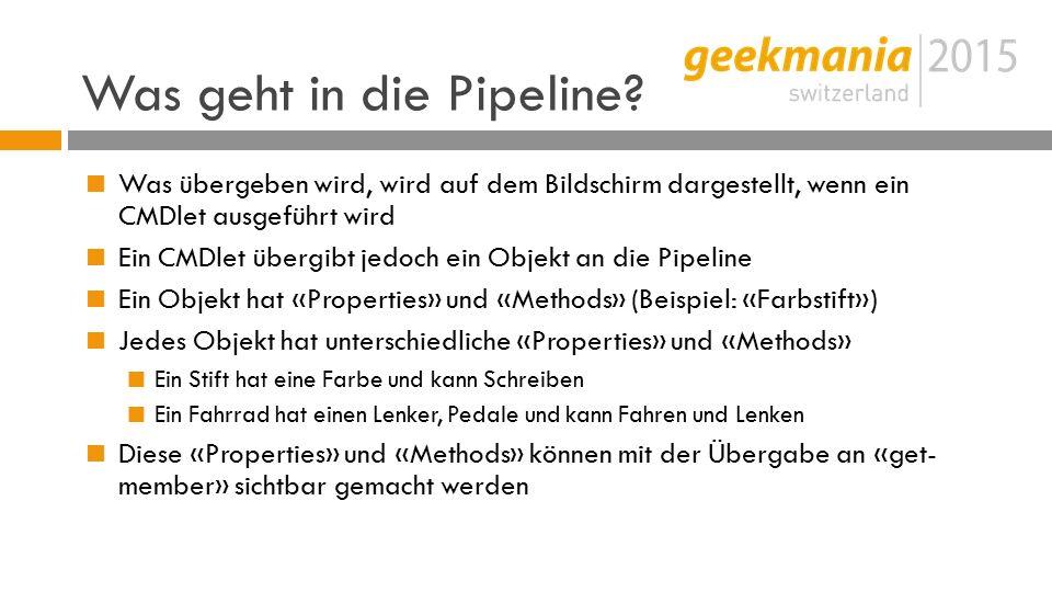 Was geht in die Pipeline.