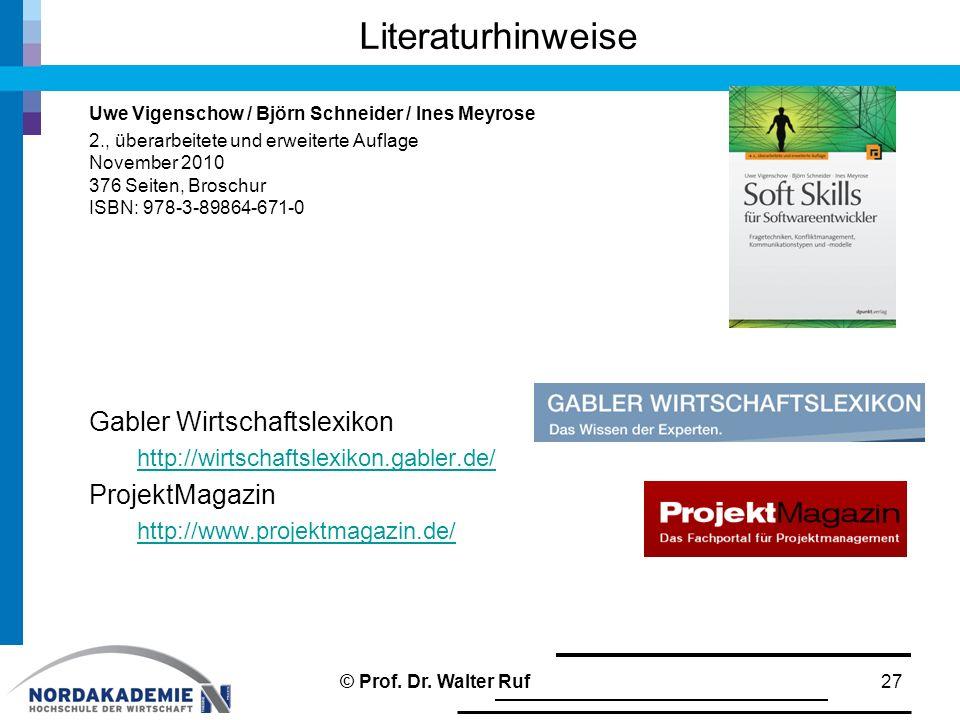 Literaturhinweise Uwe Vigenschow / Björn Schneider / Ines Meyrose 2., überarbeitete und erweiterte Auflage November 2010 376 Seiten, Broschur ISBN: 97