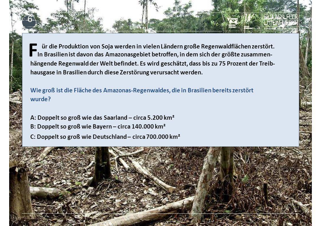 KUHFRISST REGENWALD F In Brasilien ist davon das Amazonasgebiet betroffen, in dem sich der größte zusammen- ür die Produktion von Soja werden in viele