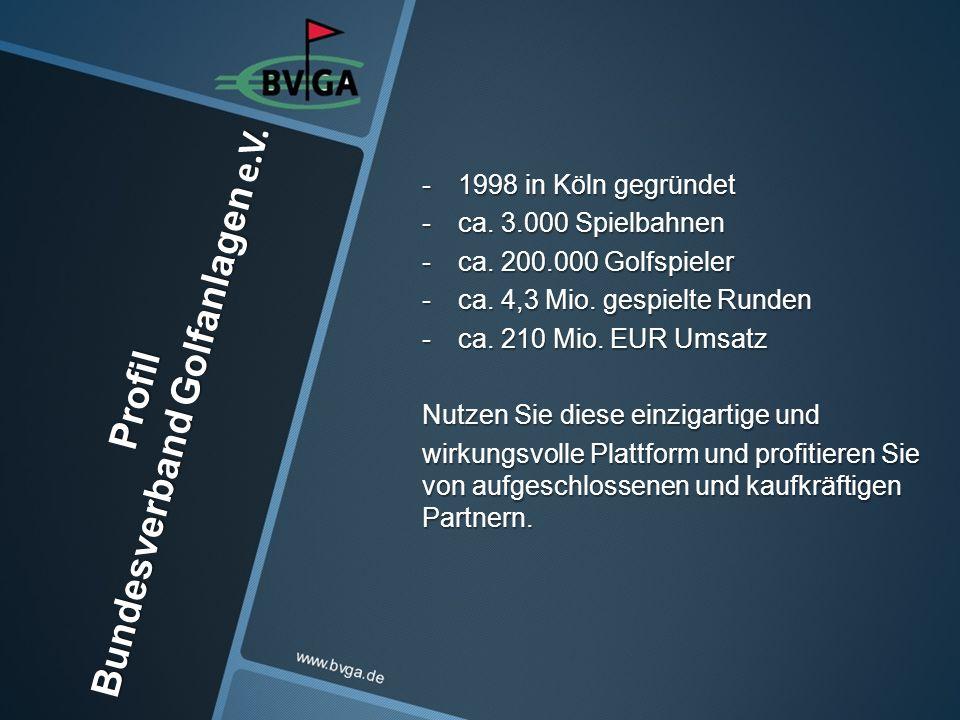 -1998 in Köln gegründet -ca. 3.000 Spielbahnen -ca.