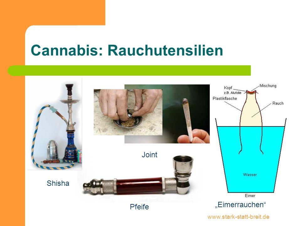 "www.stark-statt-breit.de Cannabis: Rauchutensilien Shisha Joint Pfeife ""Eimerrauchen"""