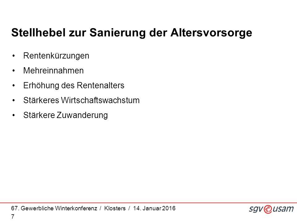 67.Gewerbliche Winterkonferenz / Klosters / 14.