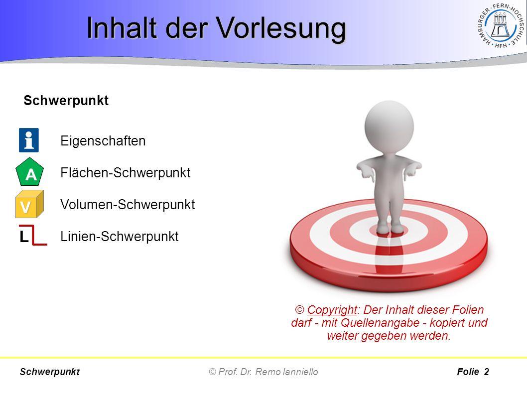© Prof. Dr. Remo IannielloSchwerpunktFolie 3 Eigenschaften