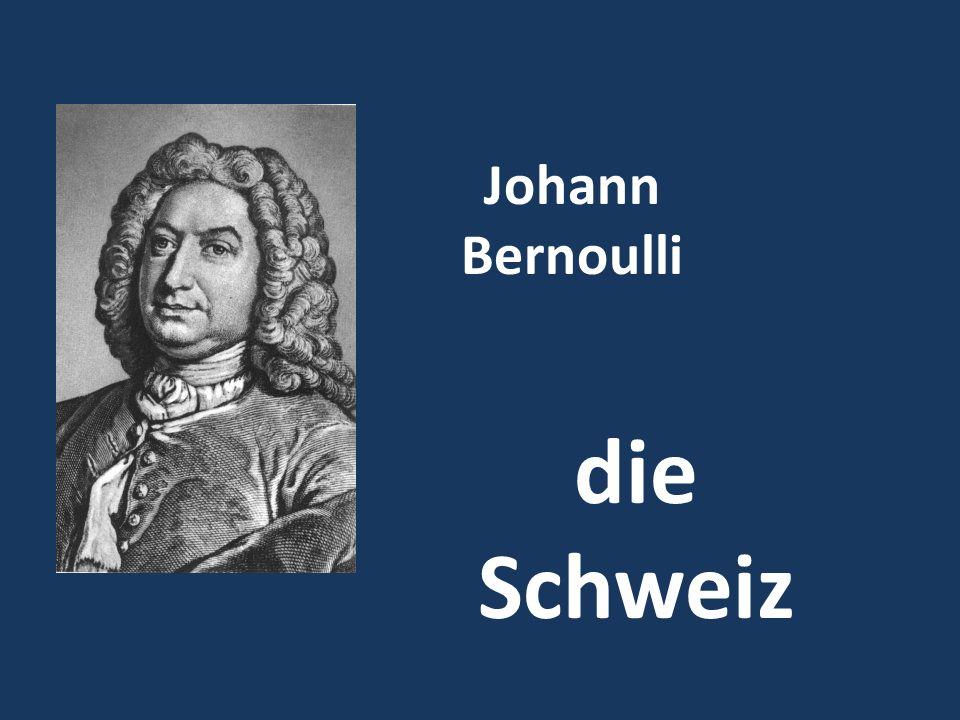 Johann Bernoulli die Schweiz