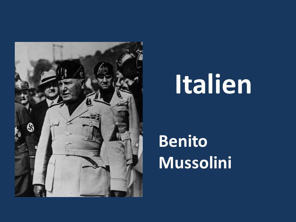 Benito Mussolini Italien