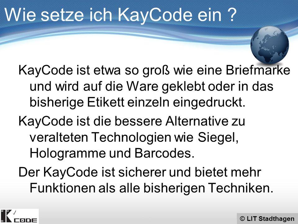 © LIT Stadthagen Finden Sie die richtige Herzdame ! Wie setze ich KayCode ein ?
