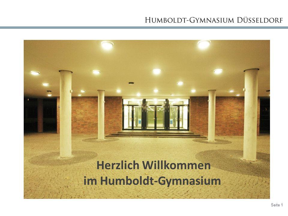 Seite 1 Herzlich Willkommen im Humboldt-Gymnasium