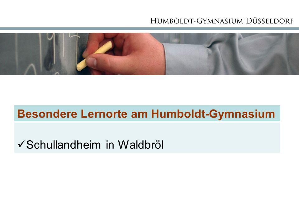 Besondere Lernorte am Humboldt-Gymnasium Schullandheim in Waldbröl