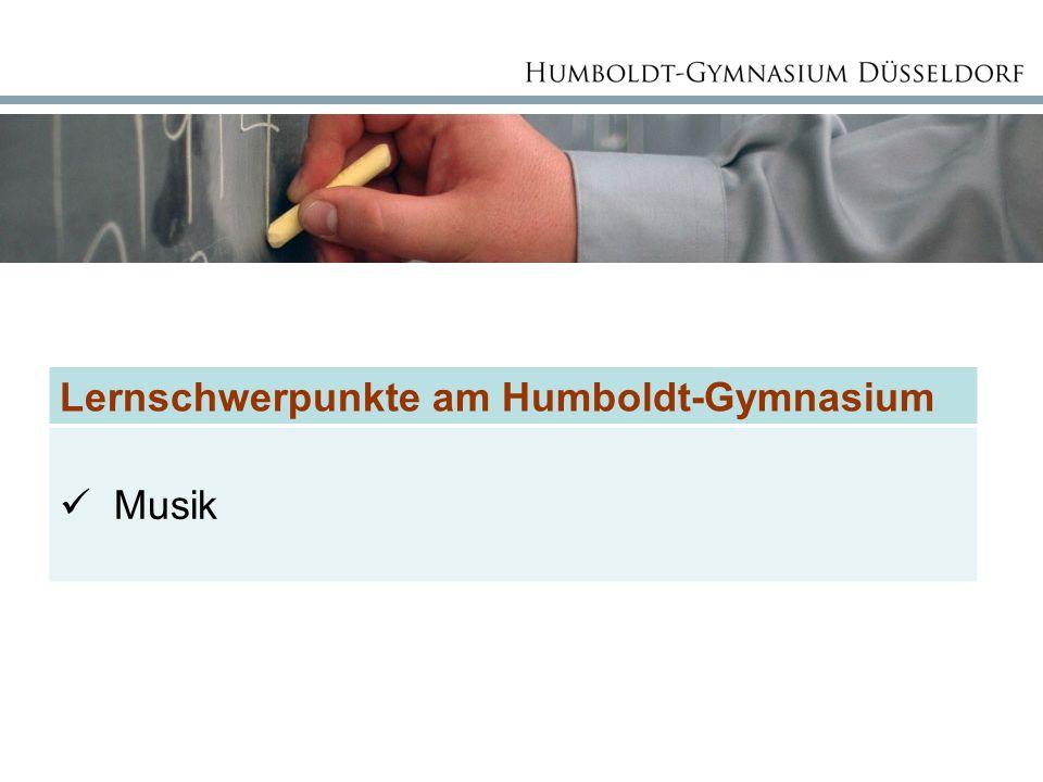 Lernschwerpunkte am Humboldt-Gymnasium Musik