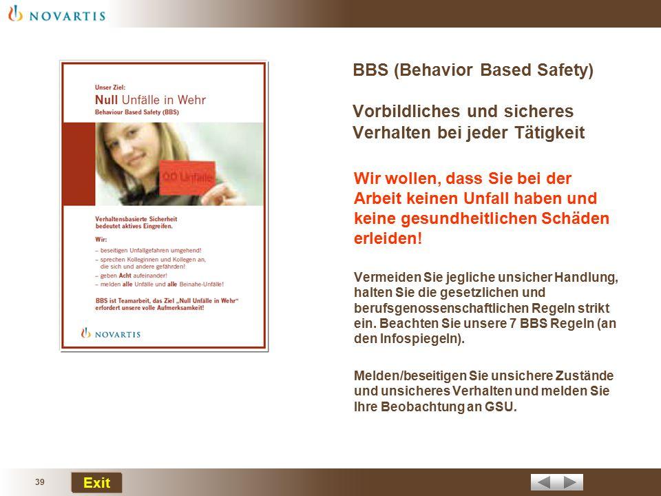 """38 Exit Wir erwarten unfallfreies Arbeiten! In der Broschüre """"Allgemeine Vorschriften zur Arbeitssicherheit sowie zum Schutz der Gesundheit und Umwelt"""