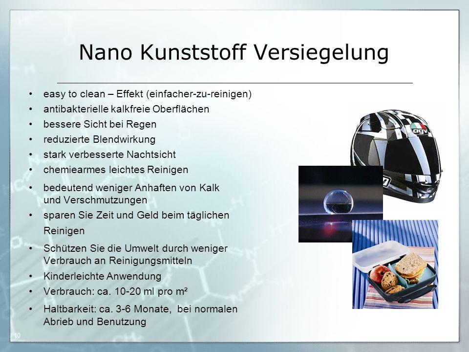 05.09.06 by Frank Matvos /2006 10 Nano Kunststoff Versiegelung easy to clean – Effekt (einfacher-zu-reinigen) antibakterielle kalkfreie Oberflächen be