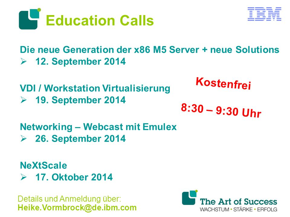 Education Calls Die neue Generation der x86 M5 Server + neue Solutions  12.