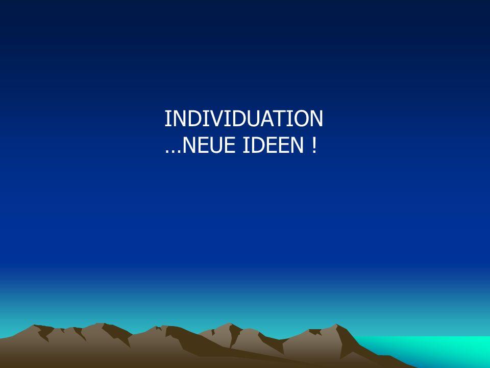 INDIVIDUATION …NEUE IDEEN !