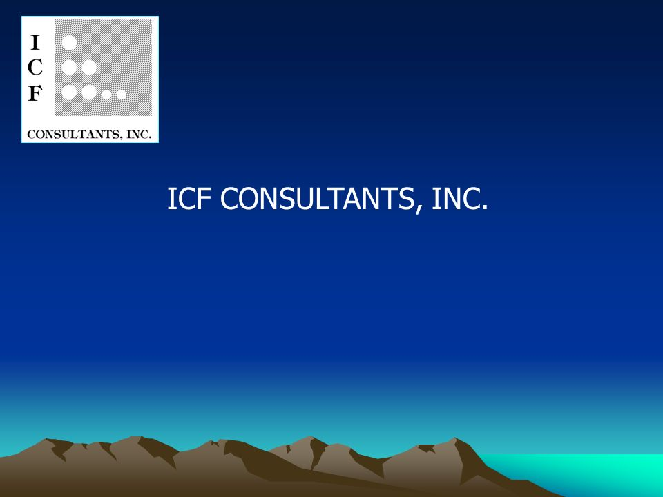 ICF CONSULTANTS, INC.