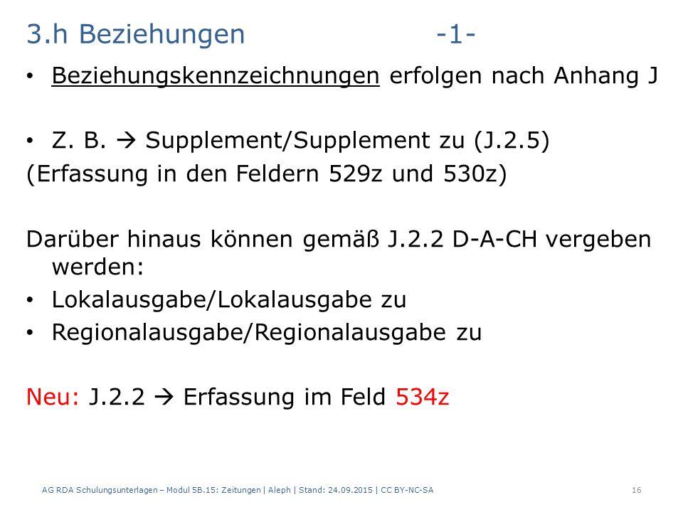 3.h Beziehungen-1- Beziehungskennzeichnungen erfolgen nach Anhang J Z.