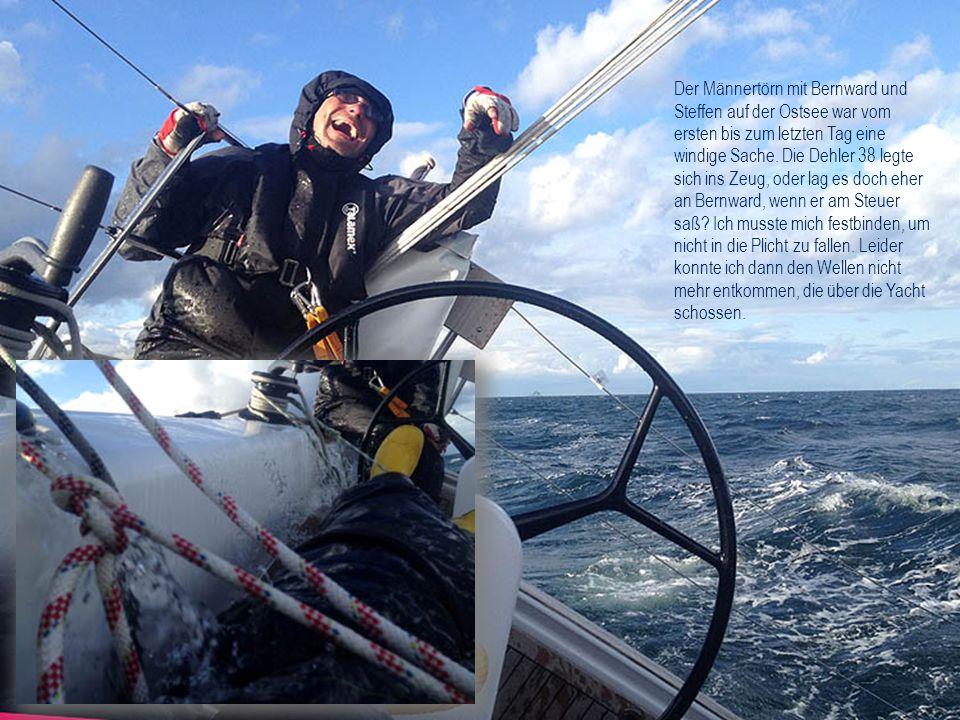 Der Männertörn mit Bernward und Steffen auf der Ostsee war vom ersten bis zum letzten Tag eine windige Sache. Die Dehler 38 legte sich ins Zeug, oder