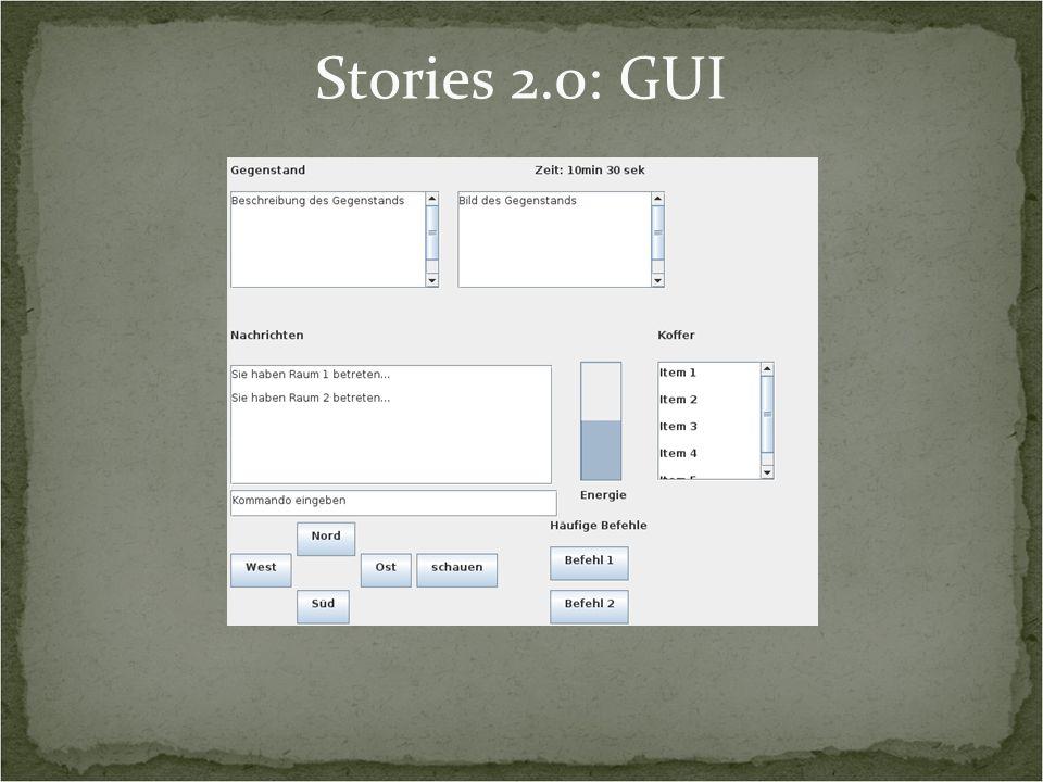 Stories 2.0: GUI