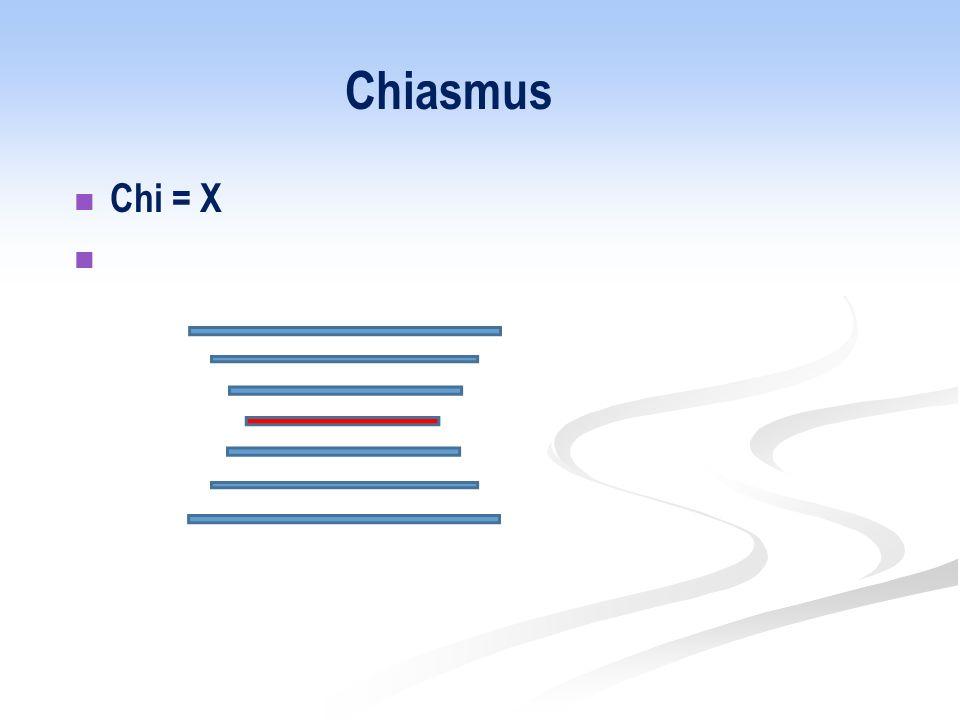 Chiasmus Chi = X