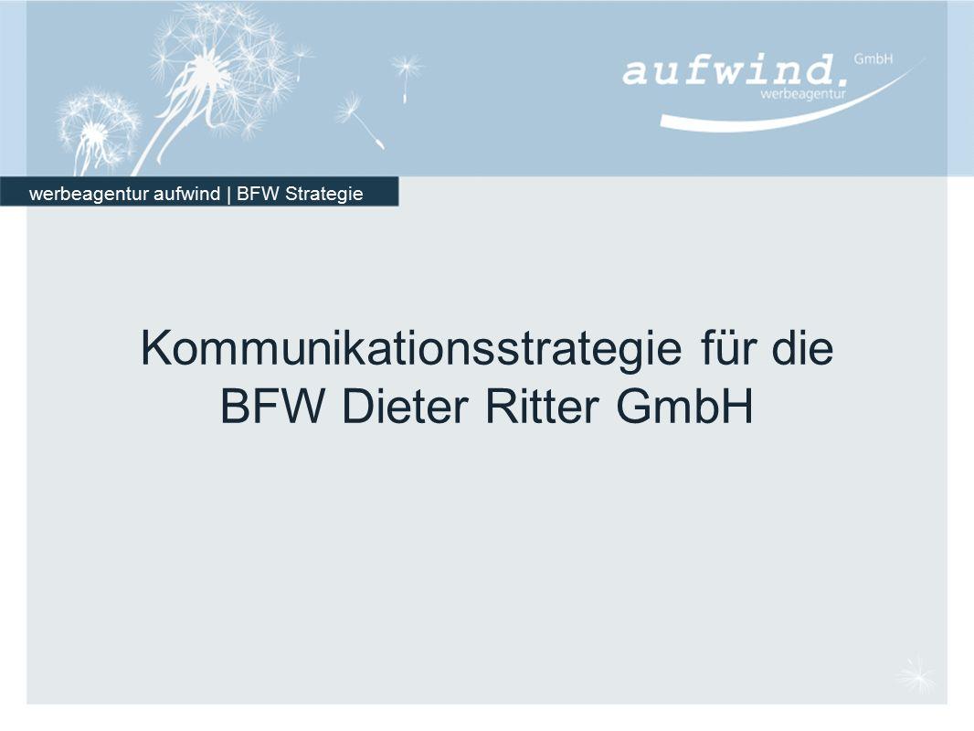 werbeagentur aufwind | BFW Strategie Kommunikationsstrategie für die BFW Dieter Ritter GmbH
