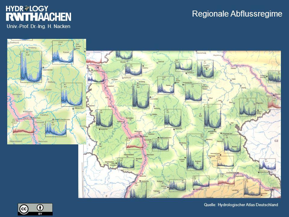 Univ.-Prof. Dr.-Ing. H. Nacken Quelle: Hydrologischer Atlas Deutschland Regionale Abflussregime
