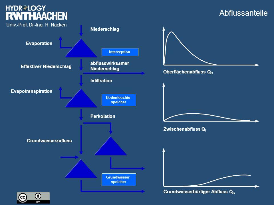 Univ.-Prof. Dr.-Ing. H. Nacken Bildquelle: ProAqua GmbH Wasserstands-Abfluss-Beziehung