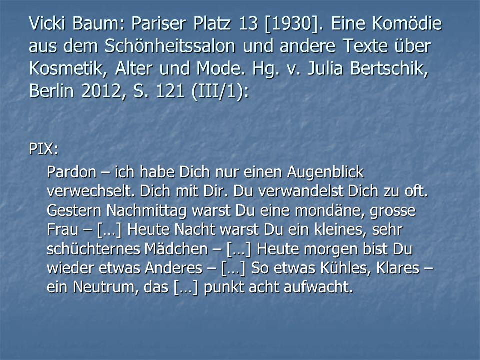 Vicki Baum: Pariser Platz 13 [1930].