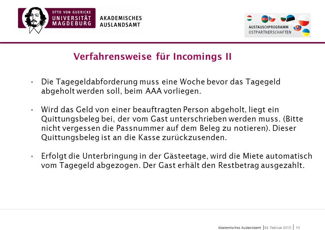 11 Akademisches Auslandsamt11 04.