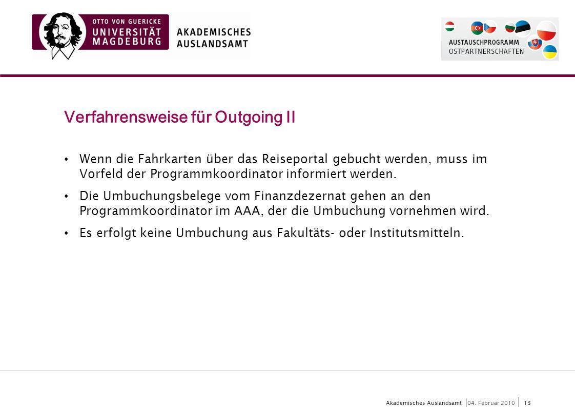 13 Akademisches Auslandsamt13 04.