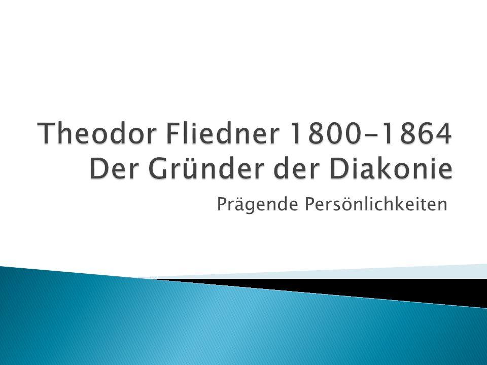 21.1.1800 als eines der zehn Kinder des Pfarrers Jakob Ludwig Fliedner und seiner Frau Henriette in Eppstein geboren.