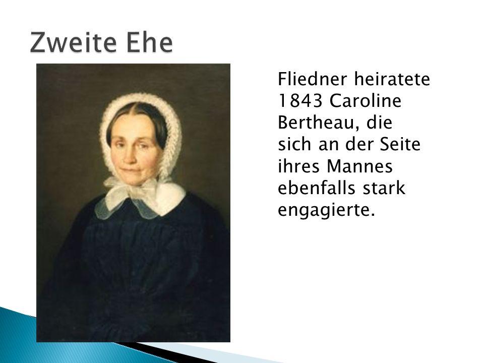 Fliedner heiratete 1843 Caroline Bertheau, die sich an der Seite ihres Mannes ebenfalls stark engagierte.