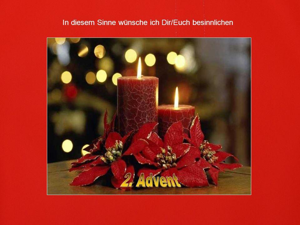 Dann bist du von aller Hast getrennt und bist auf dem guten Weg bis zu Weihnachten.