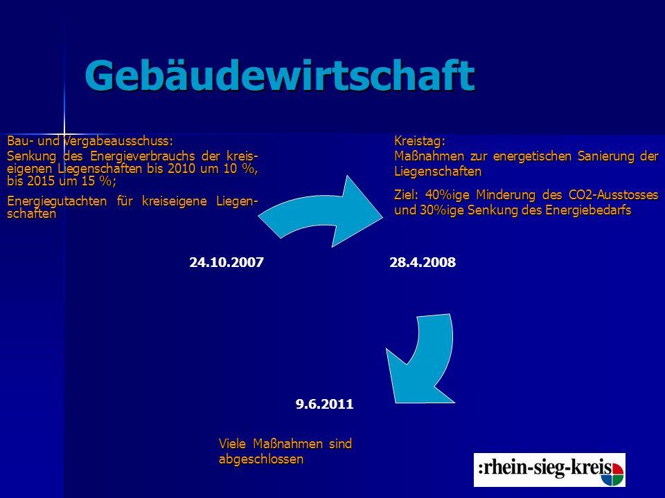 Beispiele für die Sanierung der Liegenschaften des Rhein-Sieg-Kreises Kreishaus: z.B.