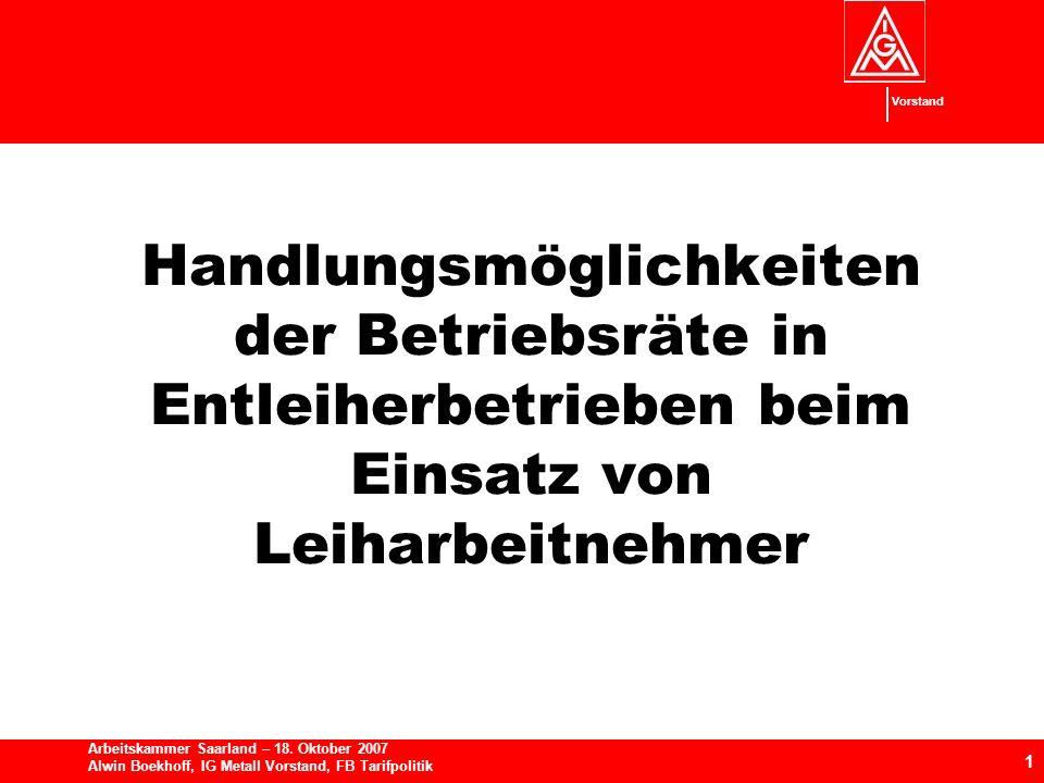 Vorstand 1 Arbeitskammer Saarland – 18.
