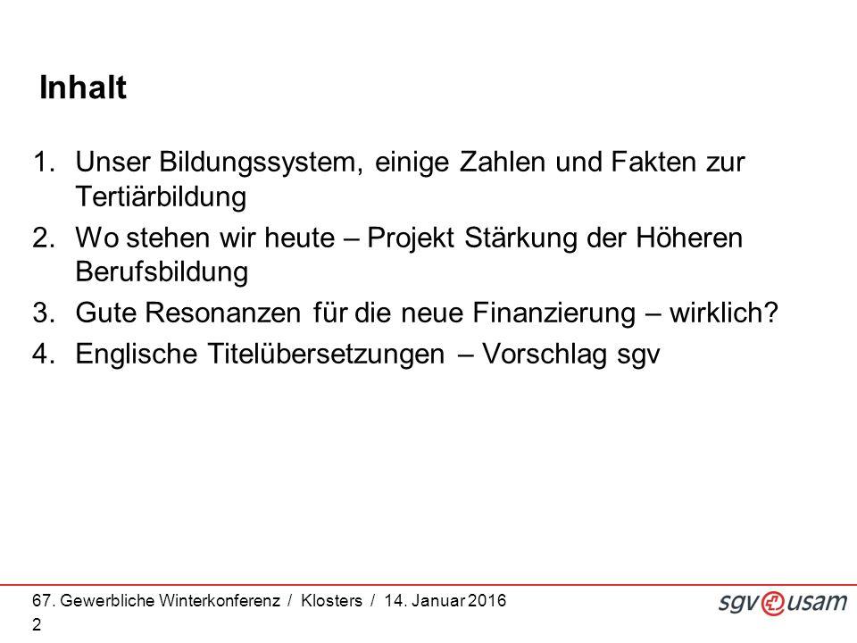 67. Gewerbliche Winterkonferenz / Klosters / 14.