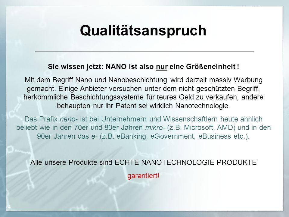 26.01.2016 Andreas Sachse 5 Gebrauchswerterhöhung durch professionelle Versiegelung.
